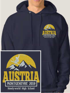 Ski Trip Hoodies - Embroidery - Hoodyworld Embroidery Logo 4