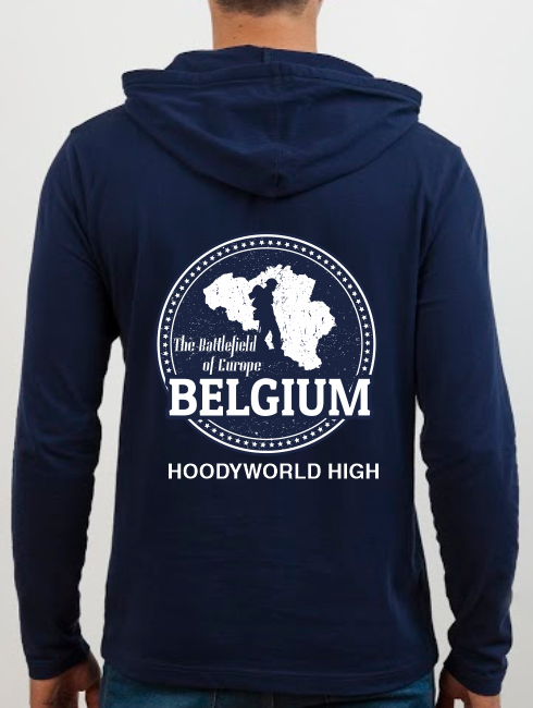 School Trip Hoodies - school trip Designs - Belgium Battlefield Design 2
