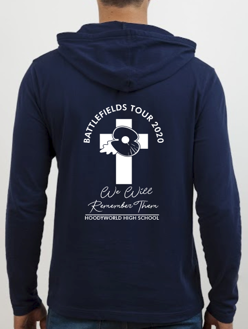 School Trip Hoodies - school trip Designs - Belgium Battlefield Design