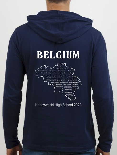School Trip Hoodies - school trip Designs - Belgium Map Design