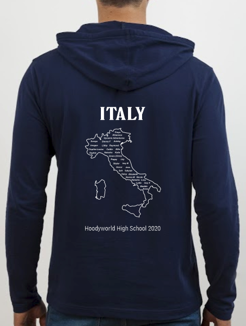 School Trip Hoodies - school trip Designs - Italy Map Design