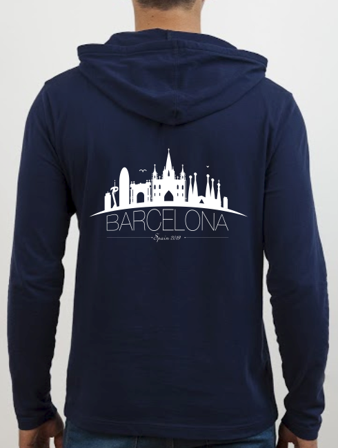 School Trip Hoodies - school trip Designs - Spain City Skyline Design