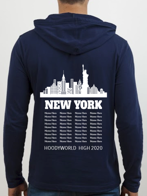 School Trip Hoodies - school trip Designs - New York Design with names