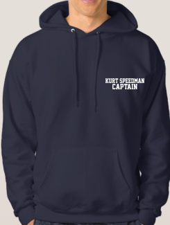 Sports and Team Hoodies - Extra - Printed Name or Nickname and Title Front
