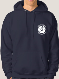 Sports and Team Hoodies - Front Option - Small Printed One colour badge / Logo
