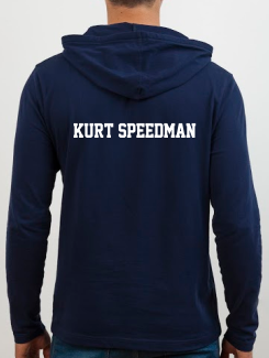 Sports and Team Hoodies - Extra - Printed Name or Nickname Rear