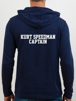 Sports and Team Hoodies - Extra - Printed Name or Nickname and Position Rear