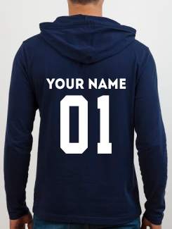 Sports and Team Hoodies - Addtional Extra - Name or Nickname and Number Rear