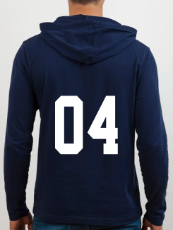 Sports and Team Hoodies - Extra - Printed Number Rear