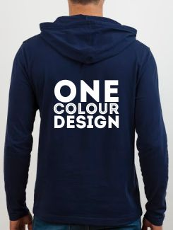 Sports and Team Hoodies - rear print - One Colour Design