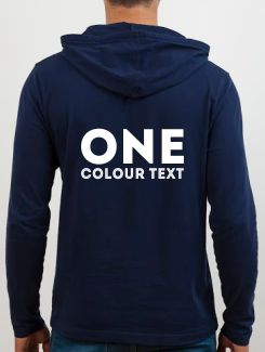 Sports and Team Hoodies - rear print - Text Only printed on the rear