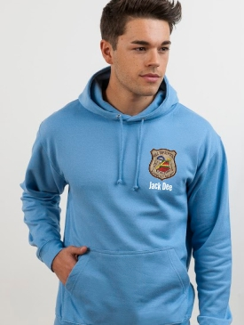 Leavers Hoodies - Extra - Embroidery badge with name or nickname below the badge