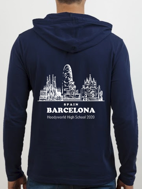School Trip Hoodies - school trip Designs - Barcelona Sketch Design