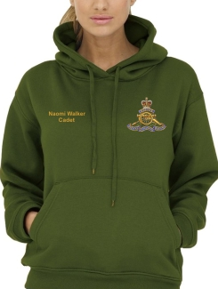 Military Hoodies and Clothing - Front Option - Embroidery badge with name and title