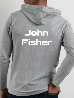 Military Hoodies and Clothing - rear print - Printed name on the rear