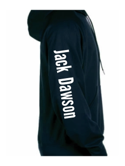 Military Hoodies and Clothing - Extra - Printed name on sleeve