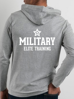 Military Hoodies and Clothing - rear print - One colour text print