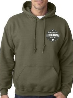 Military Hoodies and Clothing - Front Option - Printed Badge
