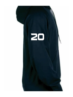 Military Hoodies and Clothing - Extra - Printed number on the sleeve