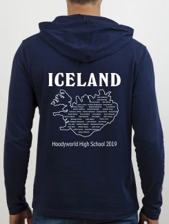 School Trip Hoodies - school trip Designs - Iceland Map Design