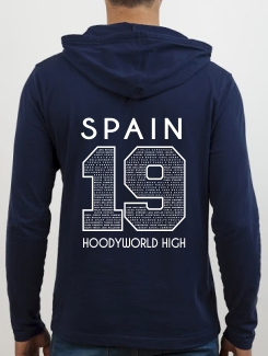School Trip Hoodies - school trip Designs - Spain Number Design