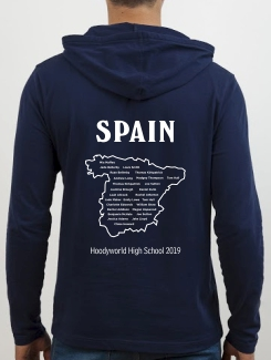 School Trip Hoodies - school trip Designs - Spain Map Design