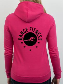 Dance Hoodies and Clothing - rear print - 1 Colour Print