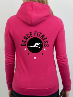 Dance Hoodies and Clothing - rear print - 2 Colour Print