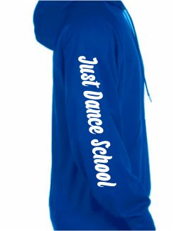 Dance Hoodies and Clothing - Extra - Printed Dance Club Name Sleeve