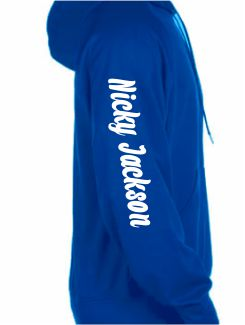 Dance Hoodies and Clothing - Extra - Printed Name or Nickname Sleeve