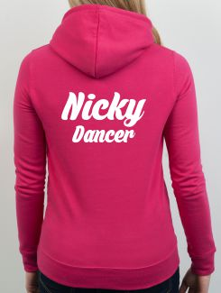 Dance Hoodies and Clothing - Extra - Printed Name or Nickname and Position Rear