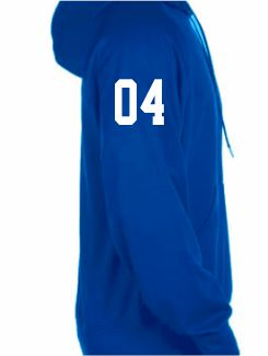 Sports and Team Hoodies - Extra - Printed Number Sleeve