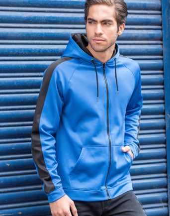 Sports Polyester Zipped Hoodie
